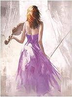 現代抽象カラフルなバレエ音楽の女の子の絵画図ポスター壁の写真家の装飾のための美しい女の子のキャンバスアート70x90cmフレームなし