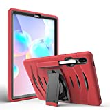 ZORSOME Shockwave Three-in-one Protective Shell is Sturdy and Durable, Suitable for Samsung S6 10.5 (2019) T860 Shockproof Stand, with Pen Slot, Drop and Dustproof (Color : Red)