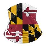 Linger In Sciarpa del Viso con Scaldacollo con Bandiera del Maryland e Sciarpa Unisex