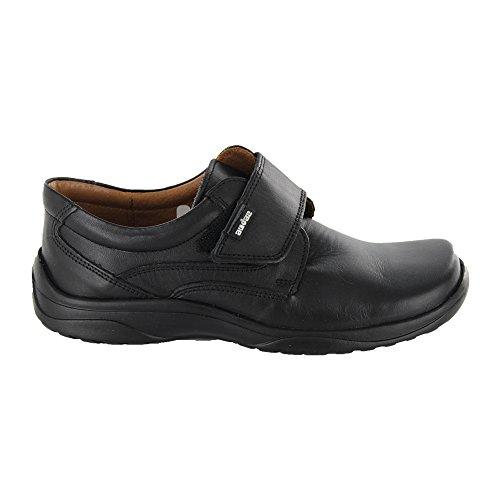 Audaz Zapatos para Niño Fabricados En Piel Color Negro con Plantilla Confort y Velcro 15