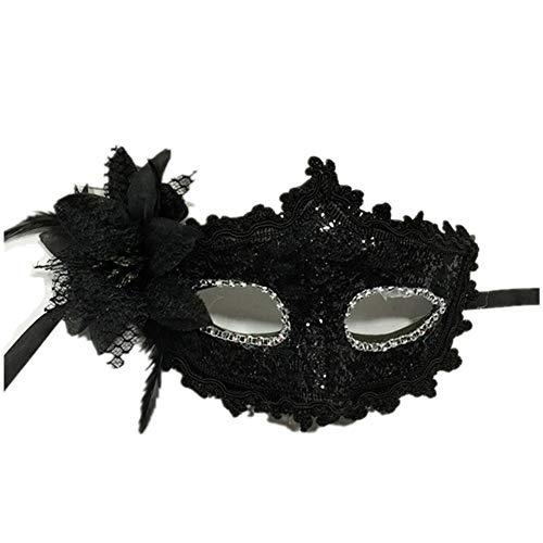 Hosaire 1x Máscara de Encaje Rhinestone Flor de Lirio,Mujeres Antifaz para Mascarada Veneciano Carnaval Halloween Fiesta de Baile Disfraces Juguetes para Pareja
