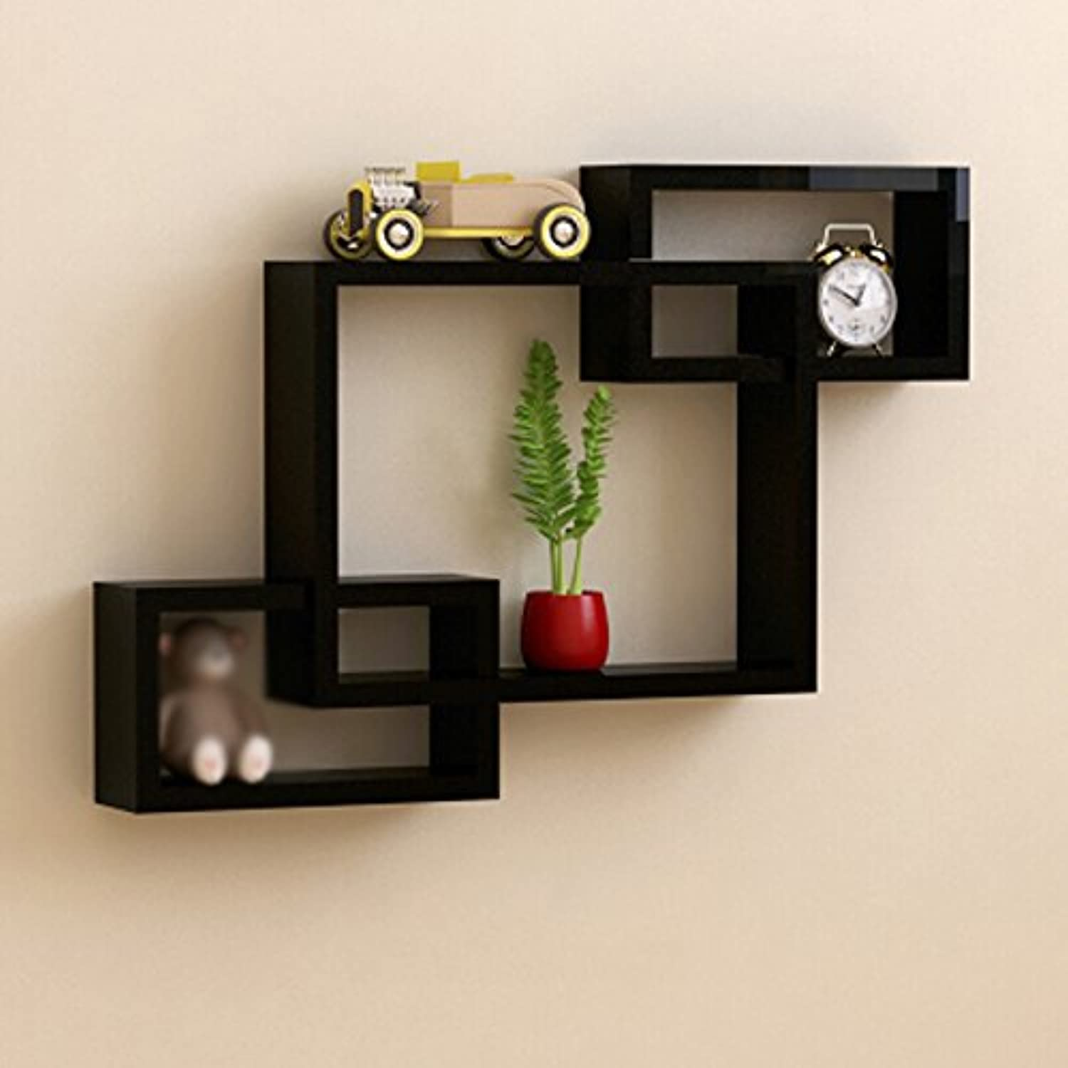 Best Coat Stand- Wall Shelf Living Room Wall Sofa Background Wall Decoration Wall Hanging Partition Wall Cabinet Bedroom -Home Decor (color   Black)