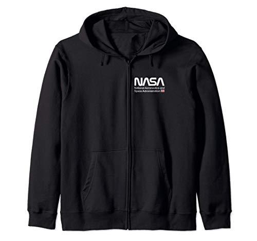 NASA Shirt, Chest Worm Logo Insignia Symbol Graphic Sudadera con Capucha