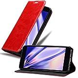 Cadorabo Hülle für Xiaomi RedMi Note 5A in Apfel ROT - Handyhülle mit Magnetverschluss, Standfunktion & Kartenfach - Hülle Cover Schutzhülle Etui Tasche Book Klapp Style