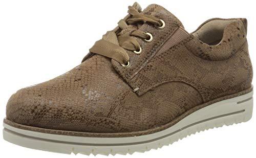 Tamaris 1-1-23744-24, Zapatos de Cordones Derby Mujer, Braun Struct 330-Secador de Pelo, 37 EU