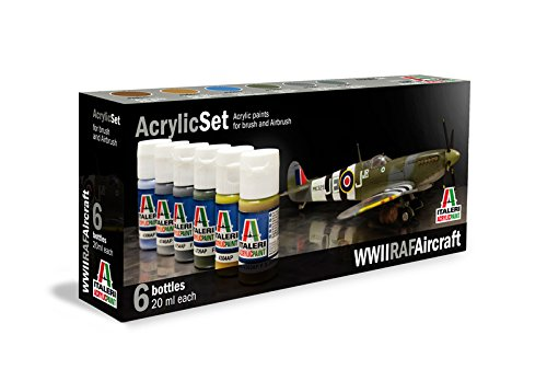 Italeri 510000432 - Set di Colori per Pittura modellini, Motivo: Aerei RAF, II Guerra Mondiale