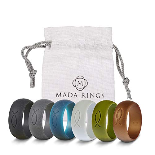 Mada Rings Silicone Wedding Rings Bands Designed for Active Lifestyles —...