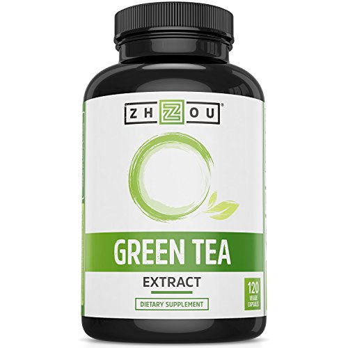 Green Tea Extract Supplement with EGCG for Healthy Weight Support- Metabolism, Energy and Healthy Heart Formula - Gentle Caffeine Source - Antioxidant & Free Radical Scavenger - 120 Veggie Capsules