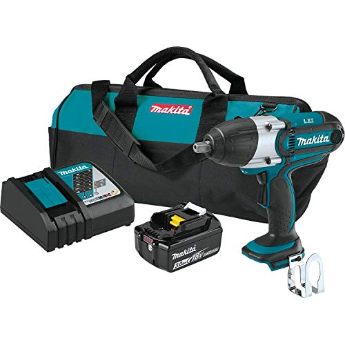 Makita XWT041X 3.0Ah 18V LXT Lithium-Ion Cordless 1/2' Square Drive Impact Wrench Kit