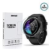 MWOOT Schutzfolie Kompatibel mit Garmin Venu GPS Smartwatch (5er Set), Ultraklare Bildschirmschutzfolie, Vollflächig Schutz zum Smartwatch Bildschirm, Smartwatch Zubehör Set