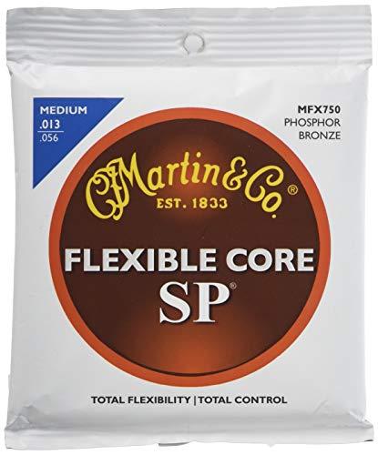 Martin FX Gitarrensaiten für Akustikgitarren (92/8 Phosphor-Bronze, flexibler Kern, Zink geflammter Innenkern, Stärke Medium 0.013 - 0.056)