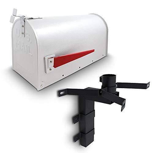 US Mailbox Amerikanischer Briefkasten Standbriefkasten Wandbriefkasten Letterbox Weiß Inclusive Wandhalter