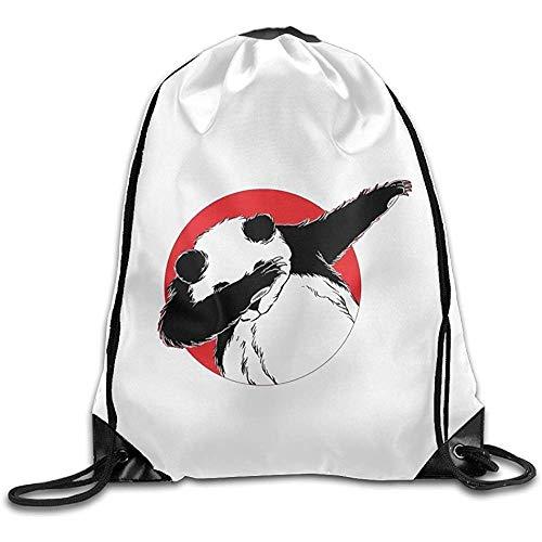 wallxxj Cinch Bags Dabbing Panda.Png Drawstring Rucksack Rucksack Umhängetaschen Training Gym Cinch Taschen Sack Drawstring Taschen