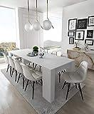 Home Innovation - Table Console Extensible, rectangulaire avec rallonges, jusqu'à 237 cm, pour Salle à Manger et séjour, Blanc...