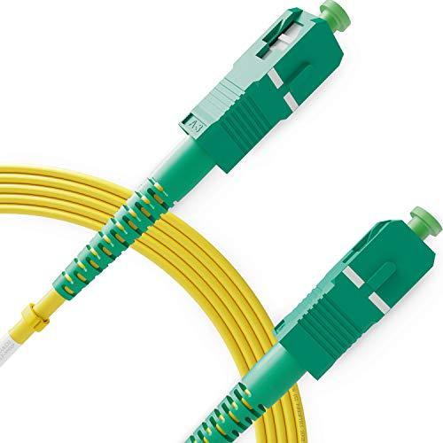 Beyondtech PureOptics Kabel-Serie SC/APC auf SC/APC Glasfaser-Patchkabel, Single Mode, Simplex, 1 m, 9/125um OS2, 100 G/3,0 mm, LSZH, unempfindlich, 1 Stück