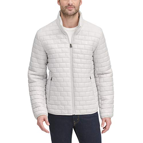 Dockers Men's The Connor Lightweight Ultra Loft Quilted Packable Jacket, Ice, Large