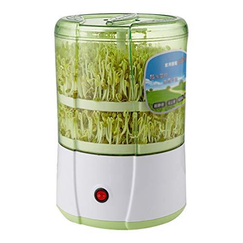 QQSS Sojasprossen Maschine, Automatische Keimmaschine, Seed Sprouter mit Doppelkeimschale, Temperaturregelung Und Automatischer Bewässerung