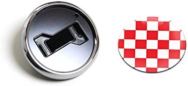 GoBadges CKC043 Flag Checker Red - OFFicial site Directly managed store Badge Magnetic Chrome Grill H