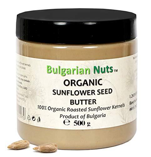 500 g di Burro di Semi di Girasole Bio, Senza - Glutine, Emulsionanti, Olio di palma, Zucchero, conservanti