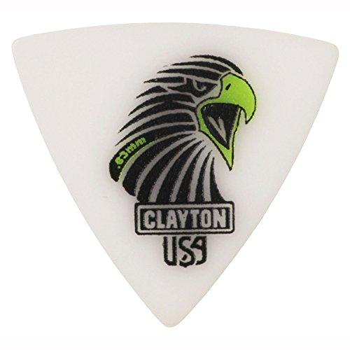 Clayton CSART6312 Afgeronde driehoek Scherpe Azijn/Polymeer Gitaar Picks, 0,63 mm, Set van 12 stuks