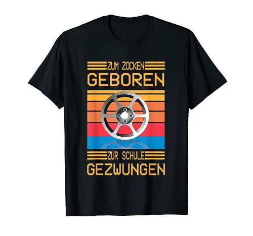 Zum Zocken geboren zur Schule gezwungen I Konsole Gamer T-Shirt