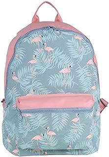 Flamingos Custom Backpack Multi-Pocket School Bag Large Capacity Travel Daypack