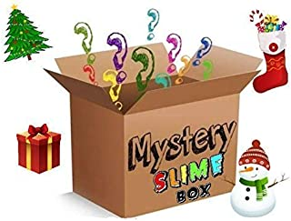 Mystery Box Slime (FREE SHIPPING!!) |Homemade Slimes| 5 Different (2oz) Slimes, Butter, Cloud, Fluffy, Crunchy, Scented, Clicky, Stretchy, Blue,Pink, Random, Foam beads, Stress Relief, Slime Kit