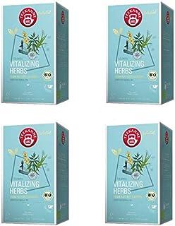 Teekanne Selected Vitalizing Bio Herbs Luxury Cup Pyramidenbeutel 40g / 4er Pack