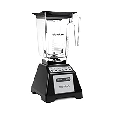 Blendtec Total Classic Original Blender with Wildside+ Jar (96 oz), Commercial-Grade Power, 6 Pre-programmed Cycles, 3-speeds, Black (Certified Refurbished)