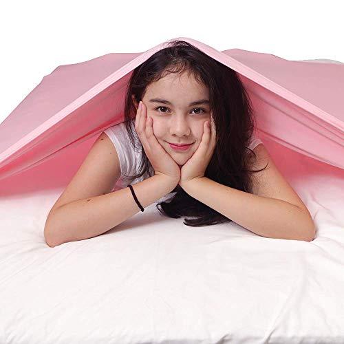 HYCy Sensorische Kompressionsdecke Sensorische Bettdecke für Einzelbettmatratze - Fester Druck zum Beruhigen und Entspannen des Schlafes - Dehnbar, atmungsaktiv (Single, Pink)