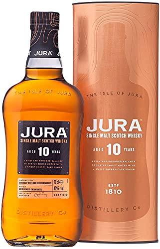 JURA - 10 ans - Whisky Single Malt - 40% Alcool - Origine : Écosse/Jura - 70 cl