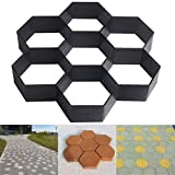 DIY Patio Walk Maker Stepping Stone Concrete Paver Mold Reusable Path Maker Mold for Garden and Backyard and...
