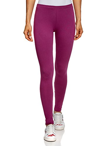 oodji Ultra Damen Leggings Basic, Violett, 36