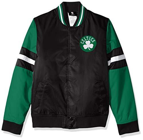 NBA by Outerstuff NBA Youth Boys Boston Celtics 'Legendary' Varsity Jacket, Black, Youth Medium(10-12)