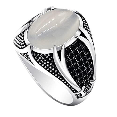 Anillos de moda para mujeres, hombres anillo agradable a la piel retro aleación simplicidad exquisito compromiso masculino anillo