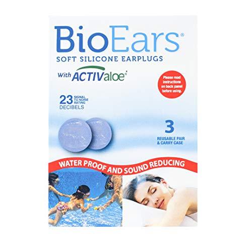 Bio Ears Lot de 3 paires de bouchons doreilles en silicone souple