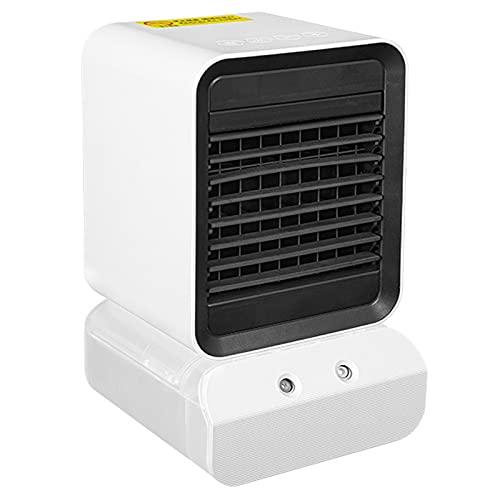 LTLJX Calefactor Cerámico, Pequeno Calentacdor con 2 Niveles de Potencia y Modo Ventilador, Función De Humidificación, Luz Nocturna De Color, para Espacio Pequeño Dormitorio