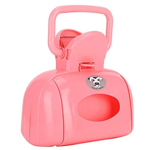 SALUTUYA Pooper Scooper für große Hunde, Dog Pooper Scooper für Gras, Pooper mit Müll für Hundeabfälle mit Müll, für Spaziergänge im Freien für kleine Tiere(Bag Type Toilet Picker【Pink】)
