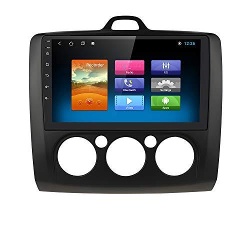 hizpo Autoradio Bluetooth Vivavoce Compatibile con Focus Exi MT 2 3 Mk2/Mk3 2004-2011 Autoradio 1+16G WiFi GPS Ricevitore Link Pecchio Telecamera Posteriore Controllo del Volante DAB/FM/USB/OBD2/Nero