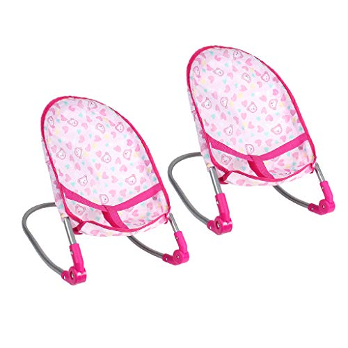 SM SunniMix 2x Realistic Newborn Baby Doll Foldable Bouncer Rockers for Doll