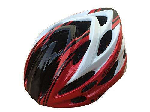 HardnutZ Hn103 Casque de vélo de Route Mixte, Rouge, Noir, Blanc, 54-61cm