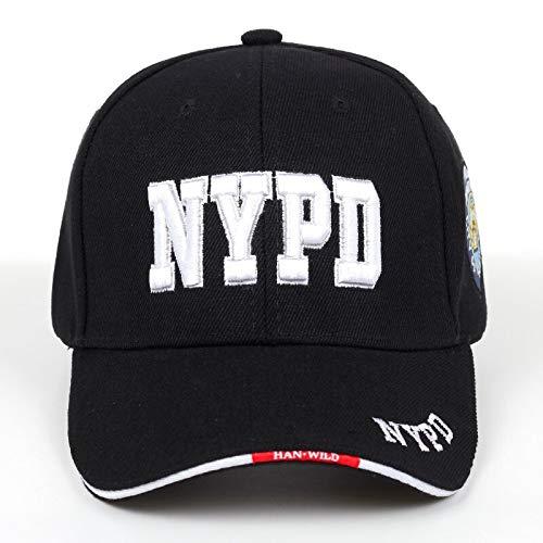 WAZHX NYPD Letter Bordado Gorra De Béisbol Hombres Y Mujeres Gorra Universal Deportes Al Aire Libre Gorra De Golf Gorra De Hip Hop De Moda Negro