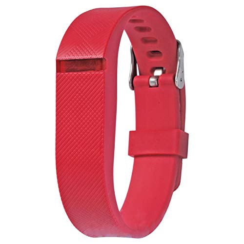 allbingo Fitbit Flex Adjustable Wristband - Fitbit Flex Silicone Replacement Secure Band with Chrome Watch Clasp and Fastener Buckle - Fix The Tracker Fall Off Problem