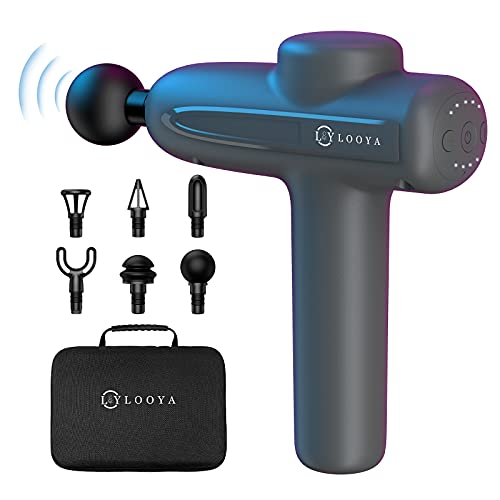 Massagepistole, 3200 RPM Professionelle Massage Gun für Nacken Schulter Rücken, 2800mAh-Akku, 20mm Elektrisch Tiefen Muskel Massagepistole Massagegerät, mit 6 Massageköpfen und 5 Geschwindigkeiten