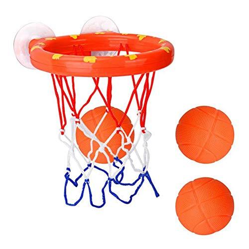 Zerodis Bad Basketball Spielzeug Bad Spielen Wasser saugen Basketball Rack Balls Set Kleinkind Badewanne Schießen Spiel für Baby