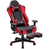 KCREAM Chaise Gaming Racing Chaise de Bureau avec Repose-Pieds Fauteuil Gaming...
