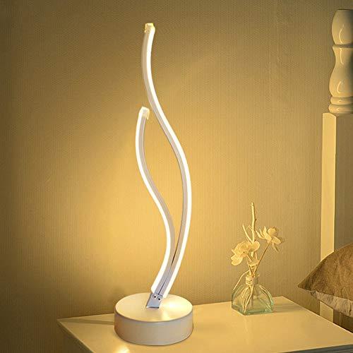 Matefielduk Lampada da Comodino Moderna Protezione Degli Occhi,Lampada da Scrivania Lampada LED Spirale con Luce Calda,Lampada Comodino Moderna per Studio,Lettura,Cameretta di Bambini