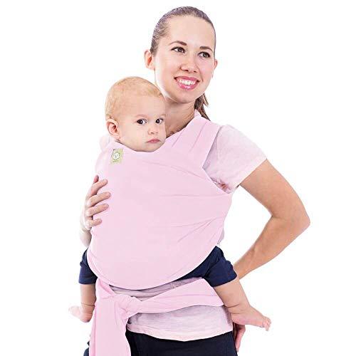 Babywickeltrage - alles in 1 dehnbaren Babytragetuch - Ergo-Tragetuchtragetuch - Babytragenetui - Babytragen für Neugeborene, Kleinkinder - Babyhaltergurte - Babytragetücher (Süßes Rosa)