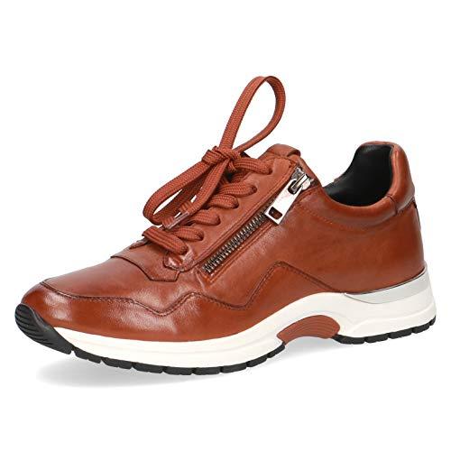 CAPRICE Damen Schnürhalbschuhe, Frauen sportlicher Schnürer,lose Einlage, strassenschuh Sneaker schnürer sportlich,Cognac Soft NA,41 EU / 7.5 UK