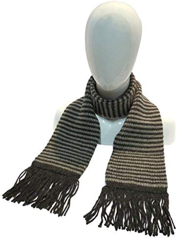 Alpaca Wool Striped Scarf Scarves 6  x 72  Handmade in Bolivia